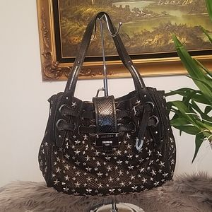 Jimmy choo Phyton skin accent black bag
